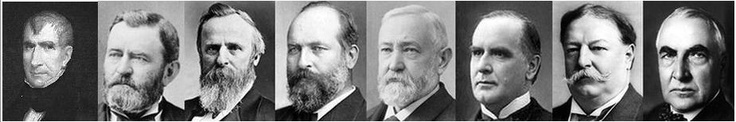 8 U.S. Presidents - 9th William Henry Harrison; 18th Ulysses S. Grant; 19th Rutherford B. Hayes; 20th James A. Garfield; 23rd Benjamin Harrison; 25th William McKinley; 27th William Howard Taft; 29th Warren G. Harding