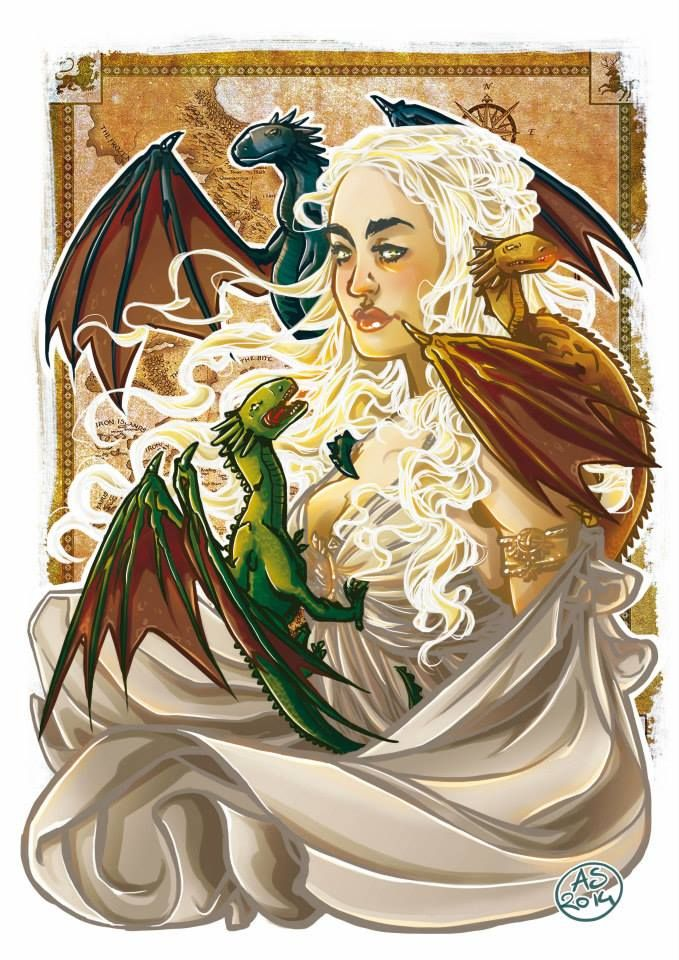 Daenerys_ Game of Thrones, art by Alessia Sagnotti