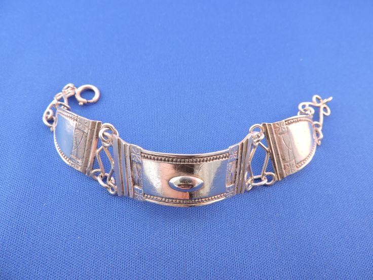 Prachtige Antiek Zilver Bijbelslot Armband 1850 -1900 Nederlands Zilver door Habbekratssmuk op Etsy