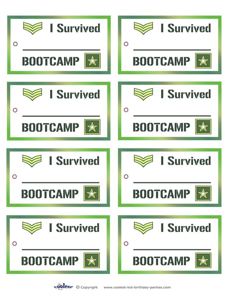 Printable Army Favor Tags Coolest Free Printables