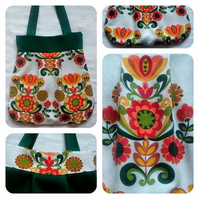 kolorowa torba, torba, motyw folkowy, bag, prezent na Dzień matki, handmade, rozeta