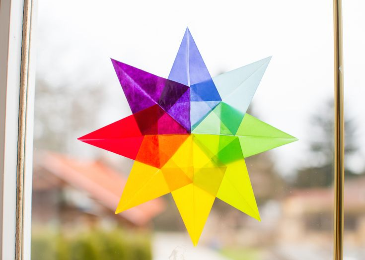 A+pinteresten+botlottam+ezekbe+a+gyönyörű+csillagokba.+Elképesztően+könnyű+őket+elkészíteni,+az+eredmény+pedig+mesés.#Waldorf #Waldorfcsillag #kreatív #transzparenspapír #csillag #dekoráció