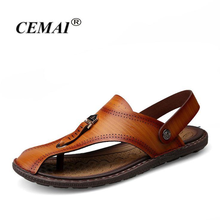Купить товарCEMAI высокое качество летние сандалии, Ручной шили моды для Мужчин тапочки, Мужчины Пляжная обувь в категории Сандалиина AliExpress. CEMAI высокое качество летние сандалии, Ручной шили моды для Мужчин тапочки, Мужчины Пляжная обувь