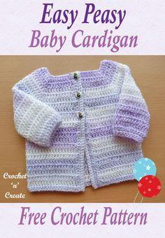 6b0c58212ec1 Easy Peasy Baby Cardigan Free Crochet Pattern