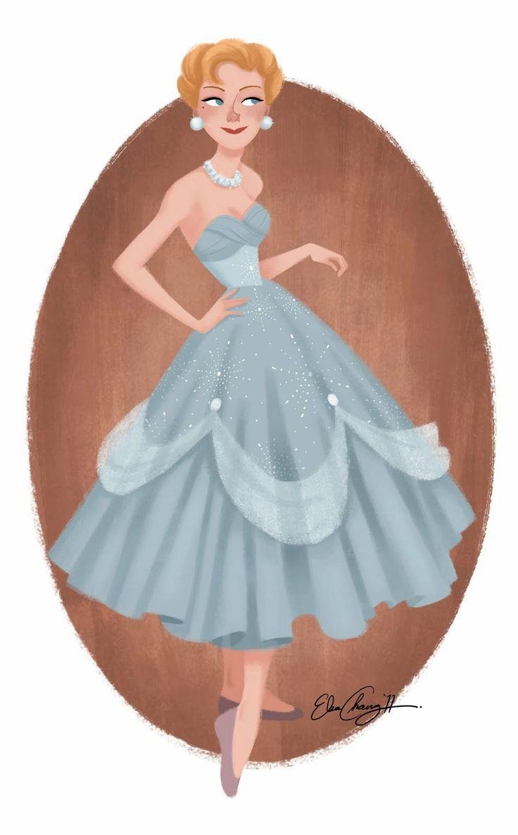 Sky blue dress Fashion Girl _ Vestito azzurro cielo per la ragazza alla moda - Illust: #ElsaChang
