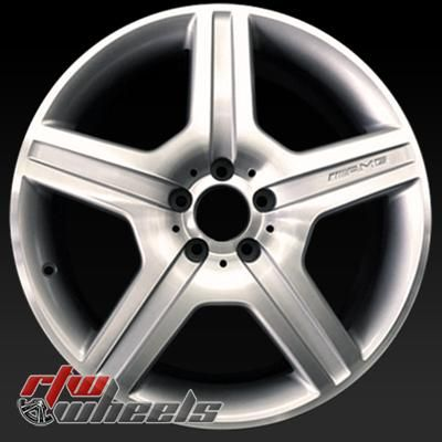"Mercedes CL550 oem wheels for sale 2008-2009. 19"" Machined rims 85021 - http://www.rtwwheels.com/store/shop/19-mercedes-cl550-oem-wheels-for-sale-machined-silver-85021/"