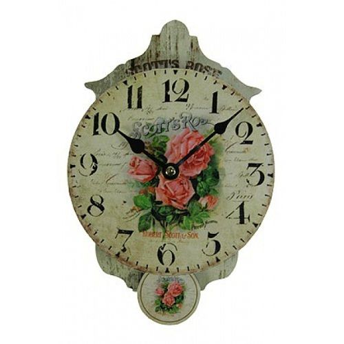"Часы настенные ""Букет роз"". - Подарки Всем! Шкатулки, ключницы, часы, шахматы, наборы кейсы для пикника, шампурницы, куклы, клоуны, коляски для кукол"
