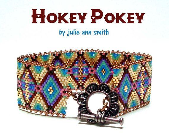 Julie Ann Smith Designs HOKEY POKEY Odd Count Peyote Bracelet Pattern