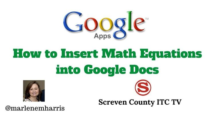 how to put equations in google docs