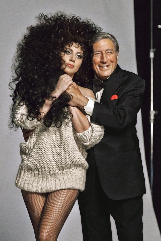 Lady Gaga and Tony Bennett are the surprising stars of H&M's holiday campaign. [Photo by Courtesy]