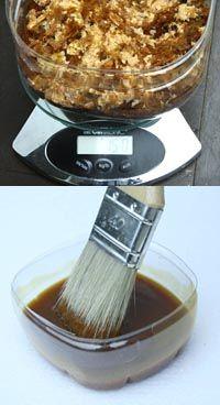 Recette vernis à l'alcool et gomme laque à préparer dans un endroit ventilé