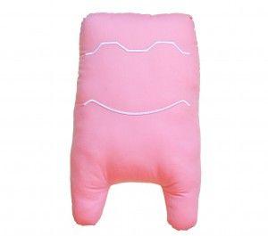 Cojín peluche WANI. Sonríe. Color rosa.