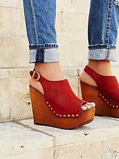 Best 25  Red wedge heels ideas on Pinterest | Red heels, Classy ...