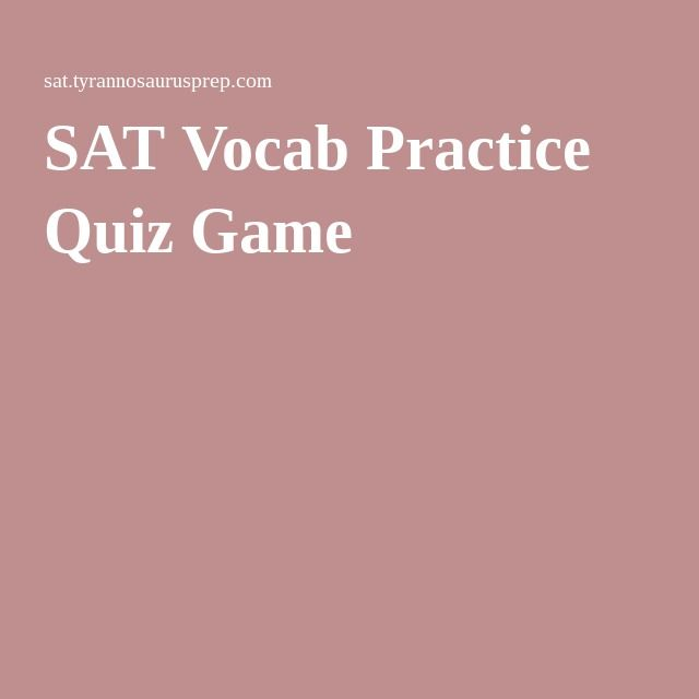 SAT Vocab Practice Quiz Game