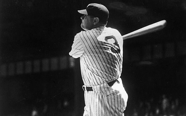 Babe Ruth | Check out the Babe's jersey number. Originally, Yankee jersey numbers signified batting order.