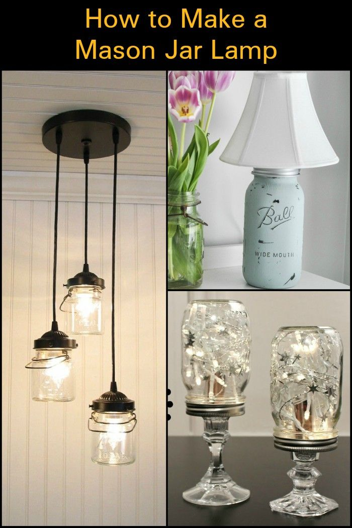 Diy Mason Jar Lamp Mason Jars Lamp Mason Jar Diy