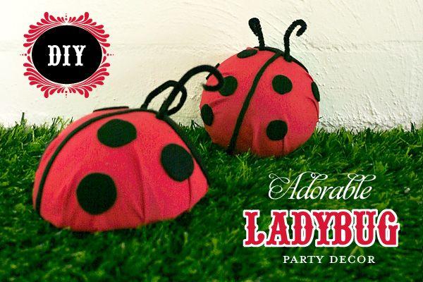 DIY Tutorial: Cute Ladybug Party Decor // Hostess with the Mostess®