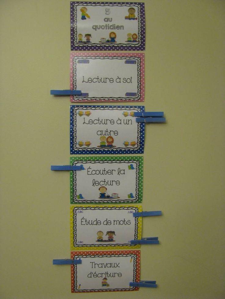 Voici 6 affiches de type «clip chart» afin de réaliser un tableau d'inscription pour les élèves. Ces affiches sont utiles lorsque les élèves font leur choix d'atelier. Vous n'aurez qu'à écrire le nom de chaque élève sur une petite épingle à linge.