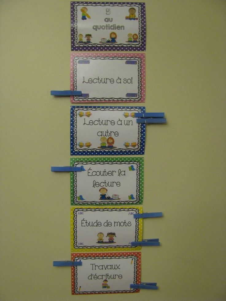 Voici 6 affiches de type clip chart afin de r aliser un tableau d 39 inscription pour les l ves for Realiser un tableau
