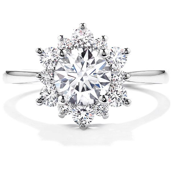 Delight Lady Di Diamond Engagement Ring ($2,700) ❤ liked on Polyvore featuring jewelry, rings, engagement rings, heart shaped diamond ring, diamond jewellery, heart jewelry and diamond engagement wedding rings