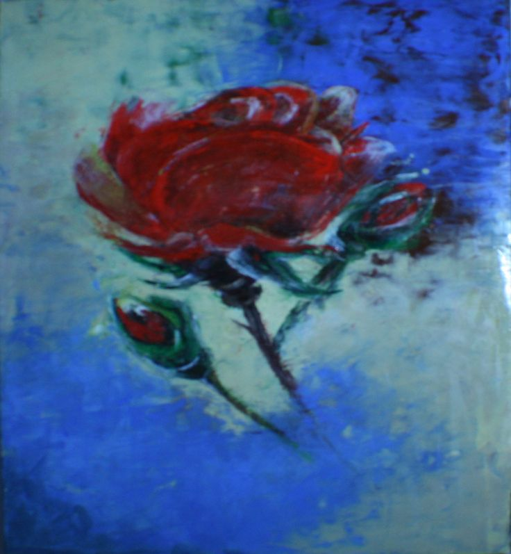 Rose painting by Eiman Muiny.
