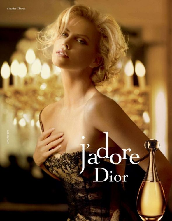 Charlize Theron for J'Adore by Dior - a beautiful woman in a stunning perfume ad.