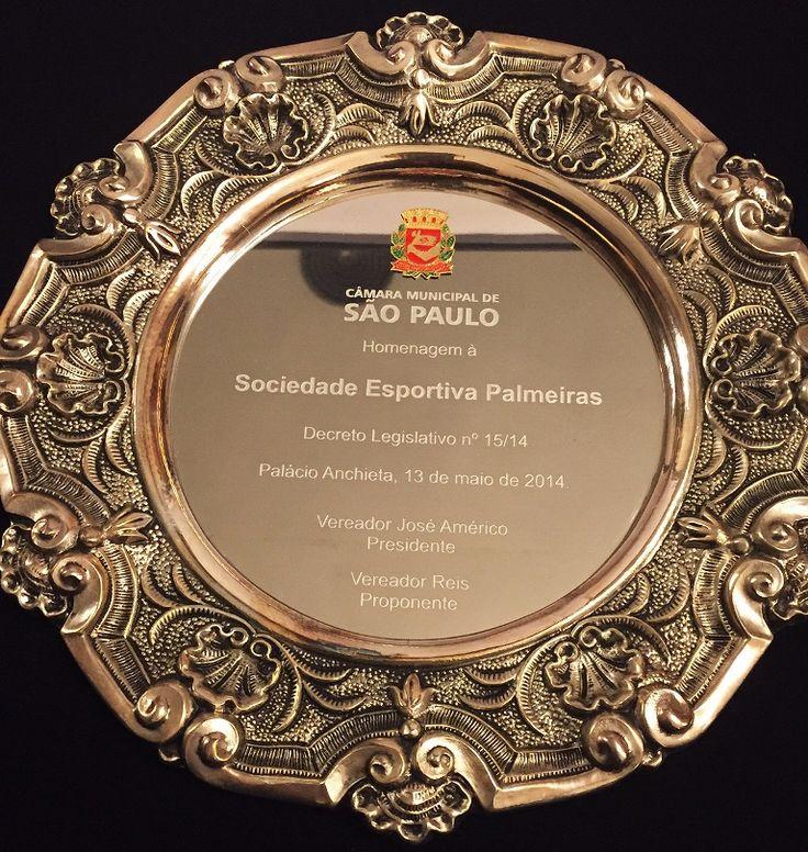 Palmeiras é homenageado e presidente recebe Salva de Prata na Câmara Municipal...