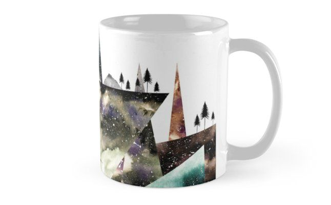 Watercolor and digital abstract minimal design inspired by nature • Also buy this artwork on home decor, apparel, stickers, and more. @redbubble #mug #geometric #gift #coffee #tea #nature #wanderlust #wanderlust