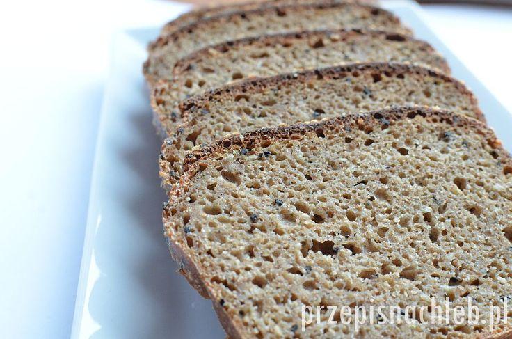 Chleb orkiszowy razowy, zrobiony z samej mąki razowej orkiszowej. Dodatek czarnuszki i sezamu nadaje mu oryginalnego smaku. Można też dodać inne ziarna np. słonecznika, dyni albo siemienia lnianego. Mimo tak dużej ilości zakwasu w przepisie – chlebwcale nie jest za kwaśny. Bardzo łatwy do wykonania, składniki wystarczy wymieszać łyżką. Składniki Przygotowanie Do miski przesiać mąkę […]