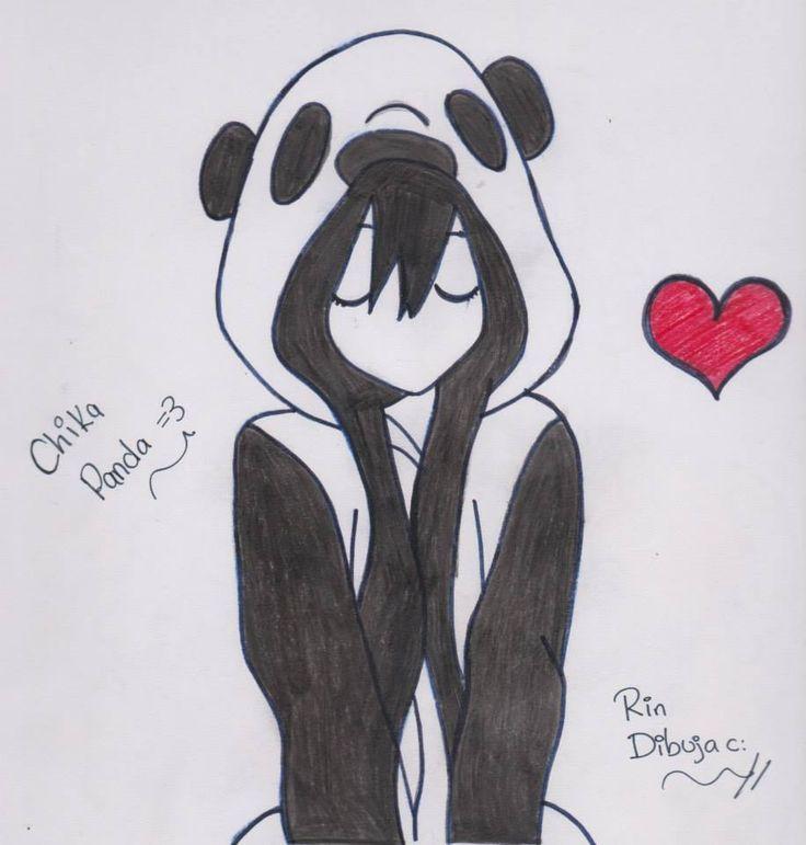 dibujo de chica anime con corazon