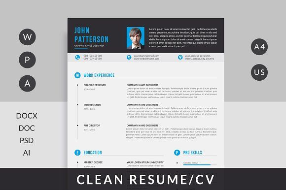 Resume by Mr-Template on @creativemarket