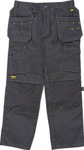Dewalt Pro Tradesman Work Trousers Black 34`` W Black trousers with top-loading knee pad pockets and a smooth, polycotton finish. 260g/m². Knee pads available separately (Code 33498). http://www.comparestoreprices.co.uk/january-2017-9/dewalt-pro-tradesman-work-trousers-black-34-w.asp
