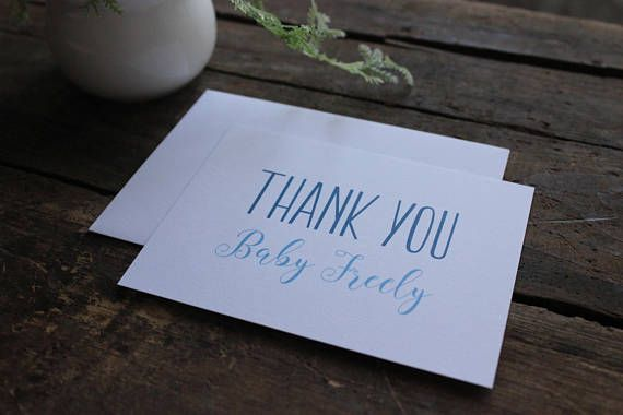 It's a Boy Blue Baby Shower Custom Thank You Cards  Turqouise, Aqua baby shower