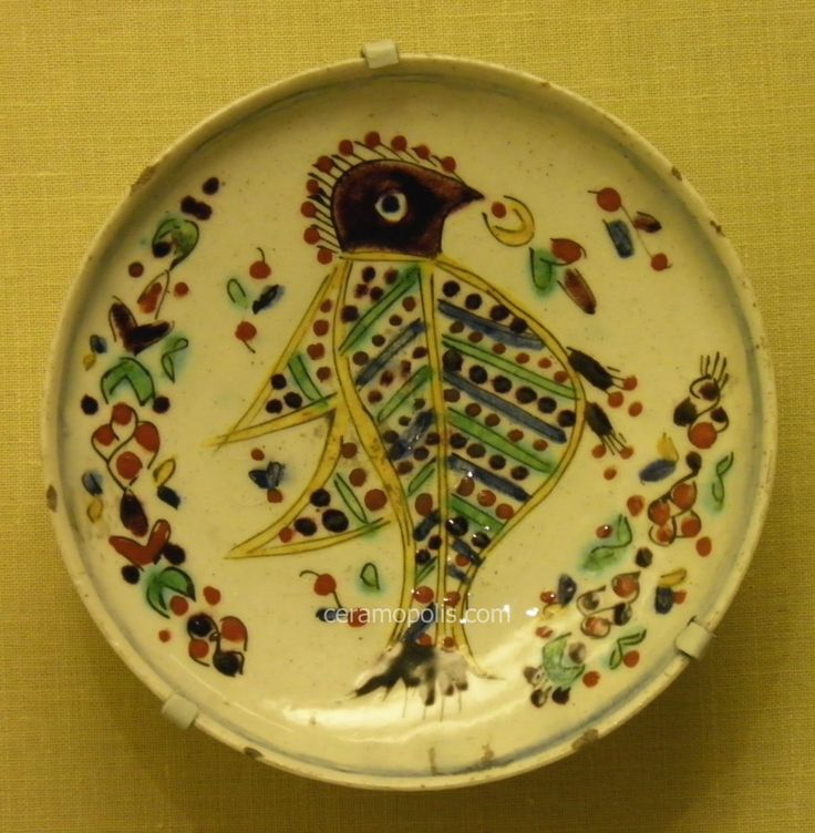 Kutahya Plate Bird 18th Pera Museum