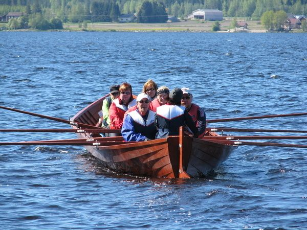 Church boat on the lake Kuortane, Finland.