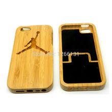 Heißer verkauf Top New Echt Carving Jordan Holz Bambus Schale Wahre Original natur Hölzerne Harte Coque Abdeckung für Apple Iphone 5 5G 5 S SE(China (Mainland))