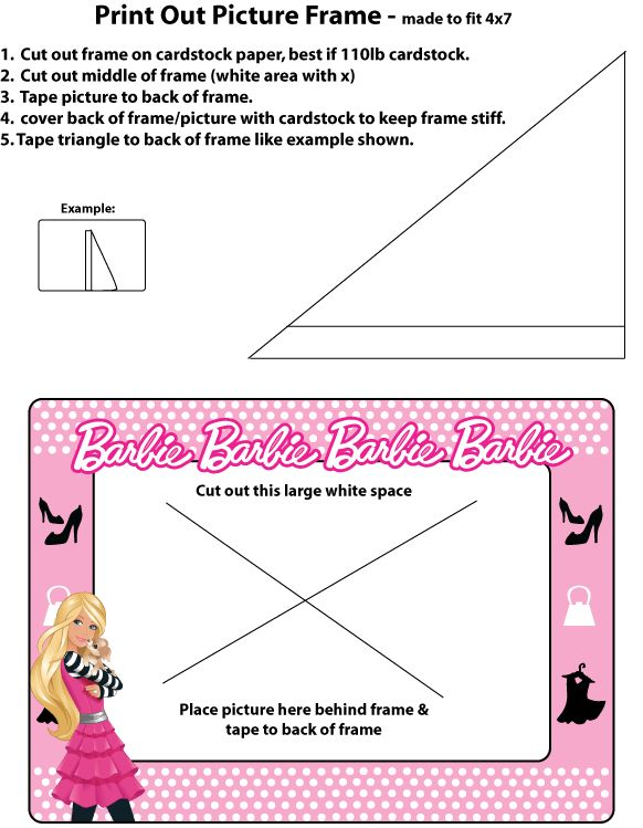 barbie picture frame