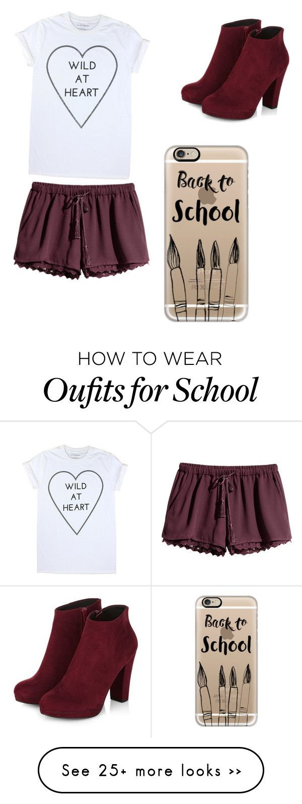 """Back to school"" by maggiearnoldma on Polyvore featuring H&M and Casetify"