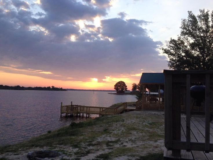Your Morning View Of The Sunrise Over Lake Fork From A Waterfront Cabin Place