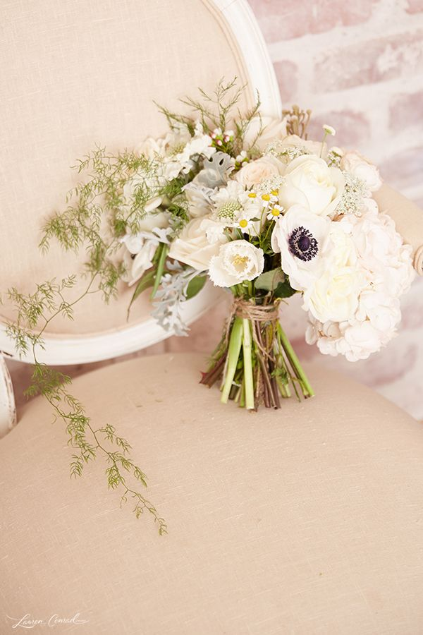 Wedding Bells: DIY Bridal Bouquet and Boutonnière via laurenconrad.com