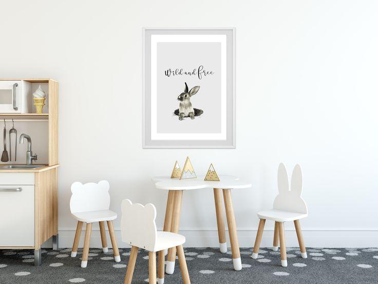 Wild and Free bunny printable