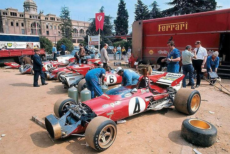 Ferrari paddock Monaco 1972