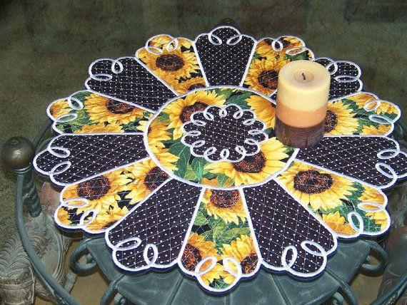 Sunflower Fall Table Topper By Studionancy