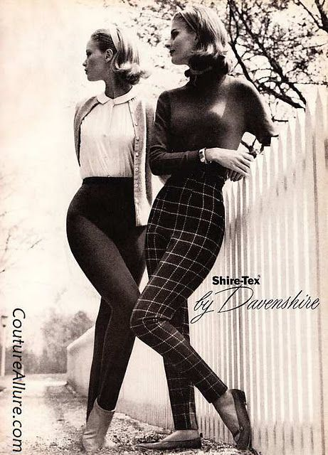 circa 1960. Goes to show skinny jeans are recycled as well!