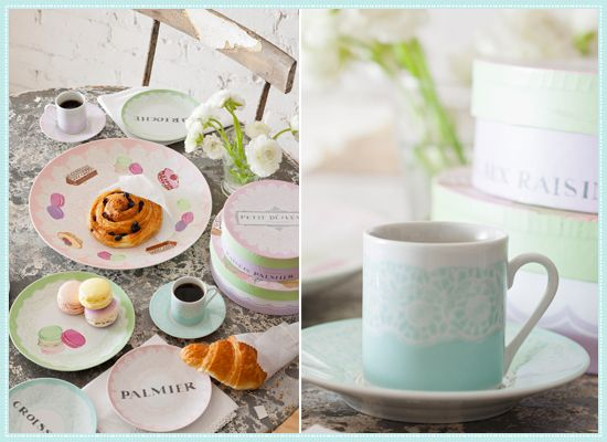Rosanna Petite Patisserie: Serving Platter, Dessert Plates Set of Four, Cup and Saucer Set of Four