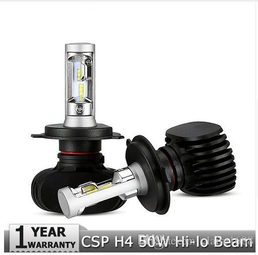 H4 Hi-Lo Beam LED Car Headlight Bulbs 50W 6500K 8000lm Auto Led Headlamp CREE CSP Chips Headlights for Toyota/Hyundai/Kia - $58.99