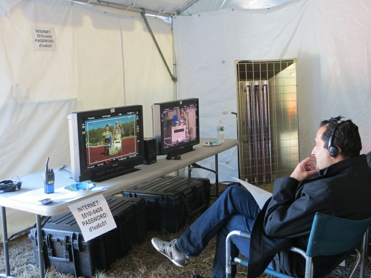 The editing tent.