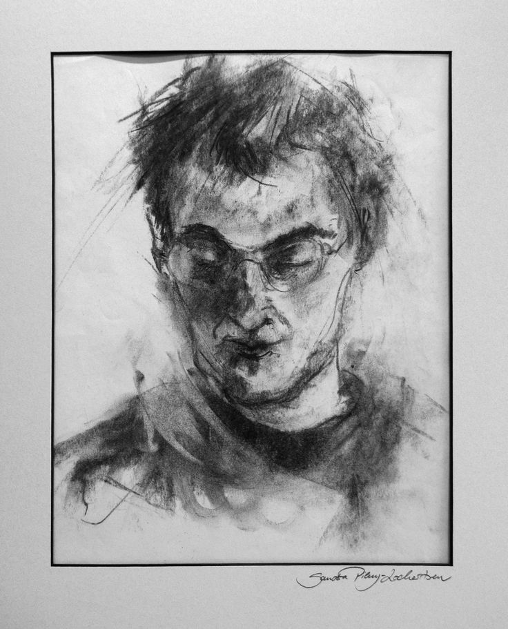 portrait of Christoph, charcoal on paper