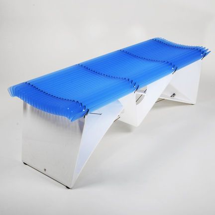 A fantastic customisable designer acrylic bench, offering modern aesthetic qualities with an engineered look! #acrylic #perspex