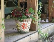 Mosaic pots make plants even more outstanding